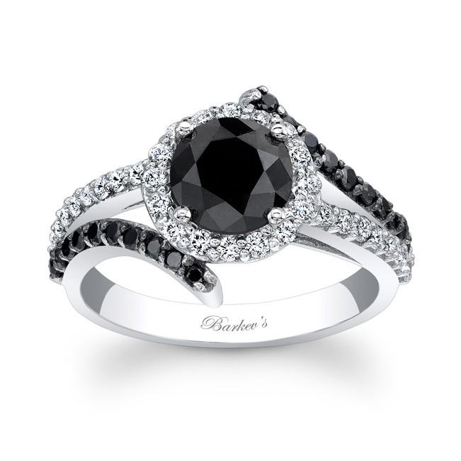 Barkev's Black Diamond Engagement Ring BC-7857LB