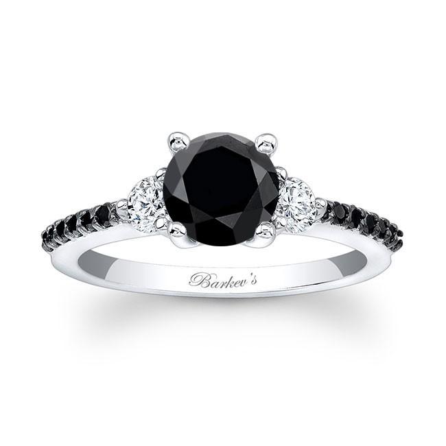 Barkev's Black Diamond Engagement Ring BC-7539LBK | Barkev