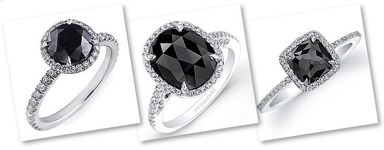 Black Diamond Engagement Rings - Unusual and Exot