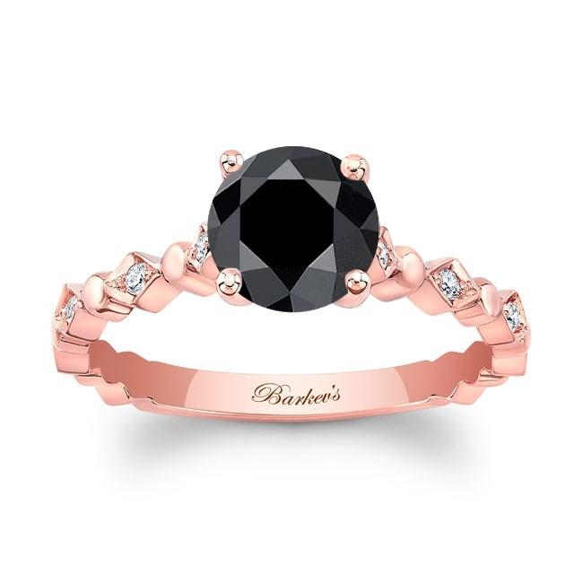 Barkev's Rose Gold Black Diamond Engagement Ring BK-8184LP | Barkev