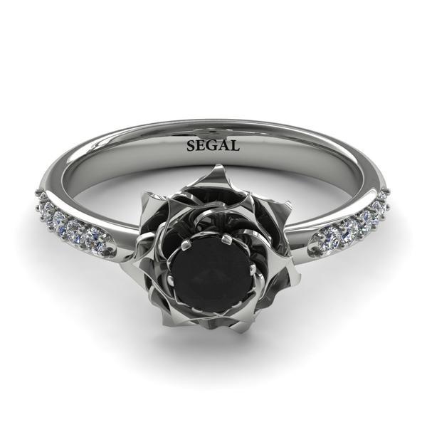 Unique Engagement Ring - 14K Rose Gold 0.25 Carat Round Cut .