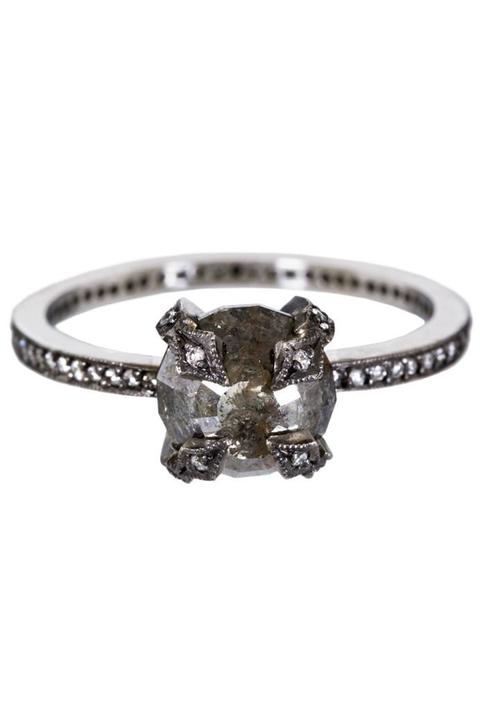 20+ Black Diamond Engagement Rings For Proposing to Unique Brid