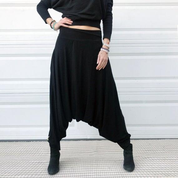 Black Harem Pants Black Yoga Pants Ninja Pants Samurai | Et
