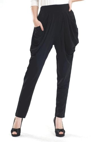 Aesthetic Official | NY Deal Women's Stretchy Harem Pants, Ankle .