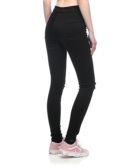 Empyre Drea High-Rise Ripped Black Jeggings | Zumi