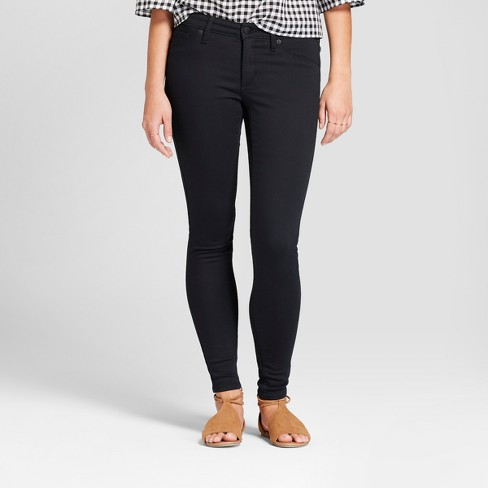 Women's Mid-Rise Jeggings - Universal Thread™ Black : Targ