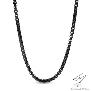 Men's Shaquille O'Neal 3.75mm Signature Tag Box Chain Necklace in .