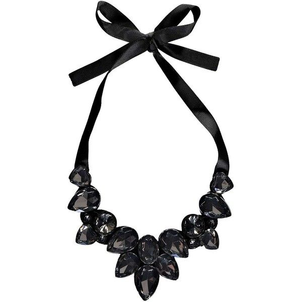 Boohoo Kia Ribbon Tie Statement Necklace ($10) ❤ liked on .