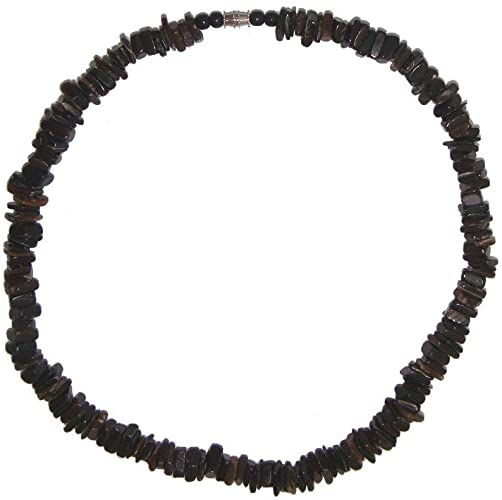 Amazon.com: Awesome 18 inch Surfin Black Puka Shell Necklace: Jewel