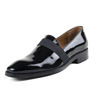 Buy CORDONNIER Black Patent Leather Slip On Loafers-Size 11 Men's .