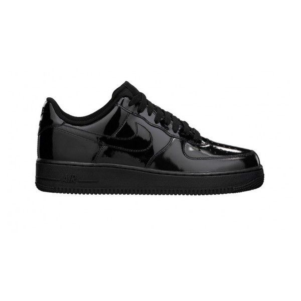 Nike Air Force 1 Black Patent ❤ liked on Polyvore featuring shoes .