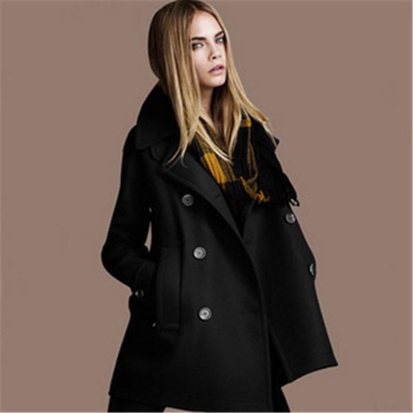 Europe Russia women Autumn Winter new fashion orange black woolen .