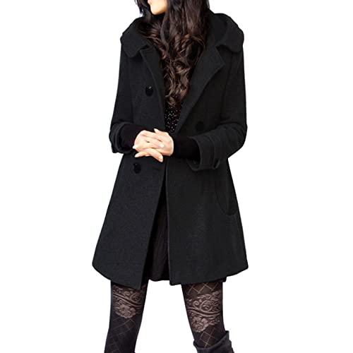 Black Wool Coat: Amazon.c