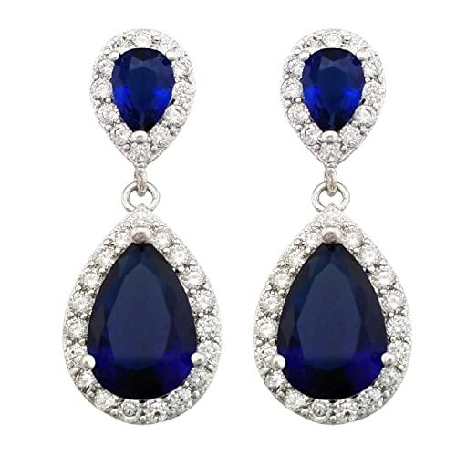 Dark Blue Earrings: Amazon.c