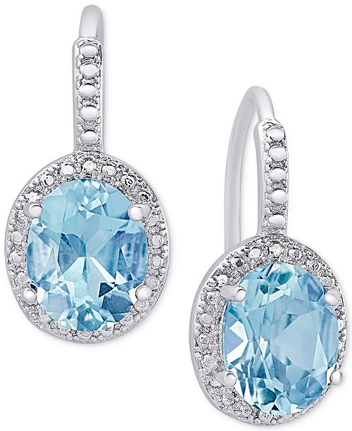 Macy's Blue Topaz (6-3/8 ct. t.w.) and Diamond Accent Drop .