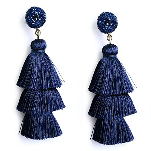 Navy Blue Earrings: Amazon.c