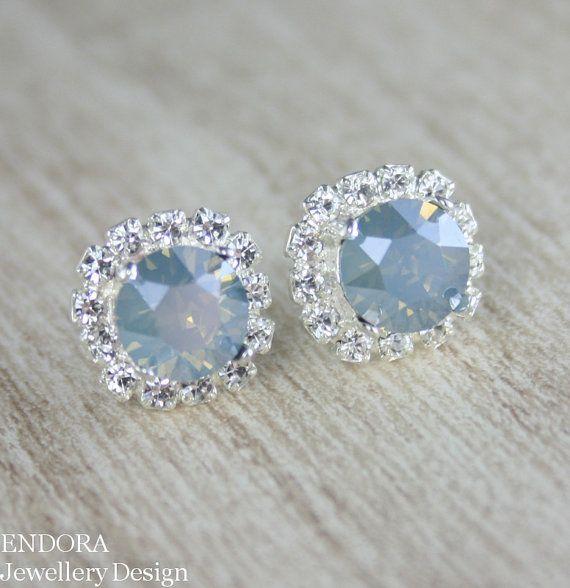 Dusty blue earrings  Dusty blue wedding  dusty blue  dusty blue .