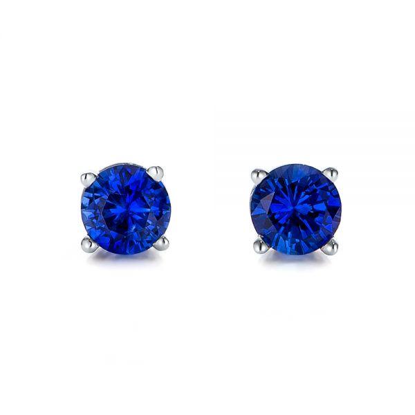 Blue Sapphire Stud Earrings #100956 - Seattle Bellevue   Joseph .