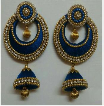 Blue earrings - Maruti Creations - 27323