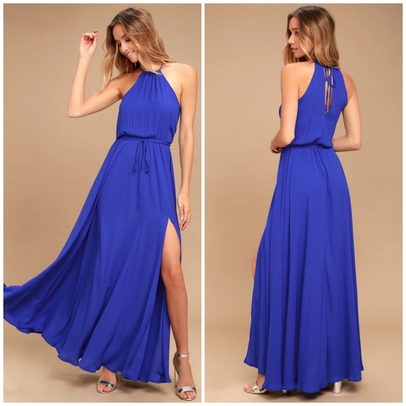 Lulu's Dresses | Lulus Essence Of Style Royal Blue Maxi Dress .