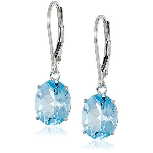 Blue Topaz Drop Earrings: Amazon.c