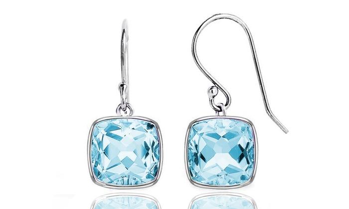 3.50 CTW Blue Topaz Earrings   Groupon Goo
