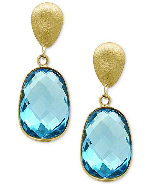EFFY Collection EFFY® Ocean Bleu Blue Topaz Drop Earrings (9-3/4 .