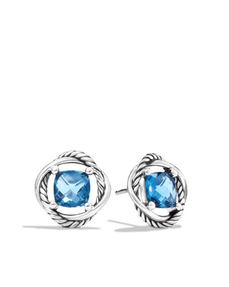 David Yurman Infinity Earrings with Hampton Blue Top