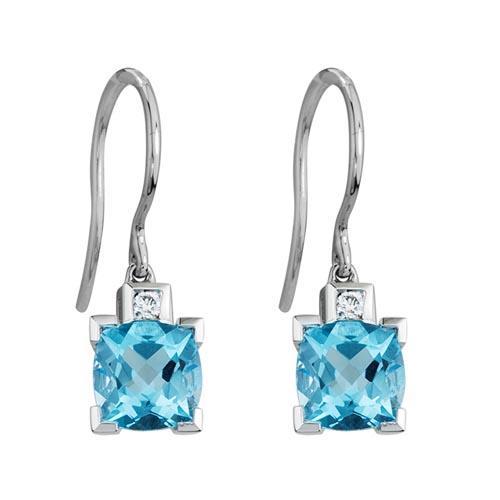 Blue Topaz Dangle Earrings   Schwanke-Kasten Jewele