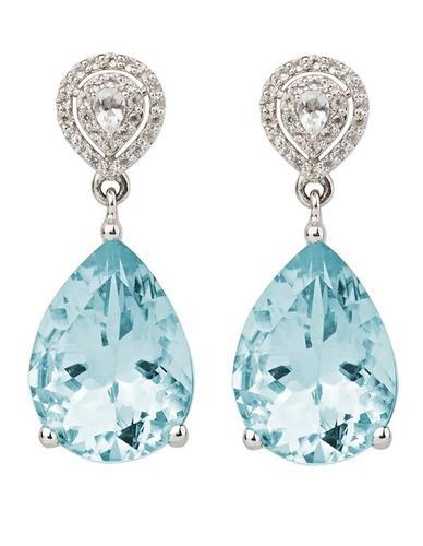 Aqua White Topaz and Sky Blue Topaz Earrings – Emily Mortimer .
