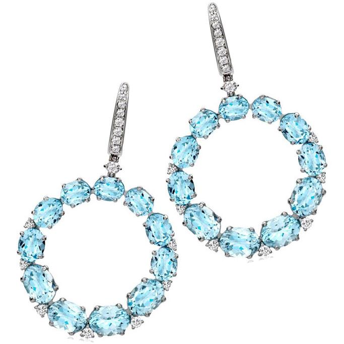 Kiki McDonough Lola Blue Topaz Hoop Earrings — UFO No Mo
