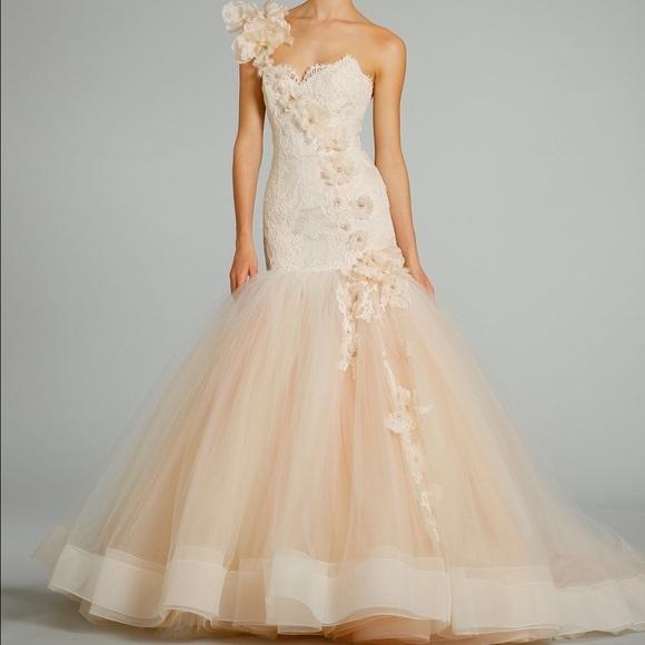 lazaro Dresses | Blush Wedding Dress | Poshma