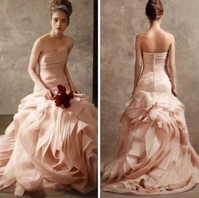 Vera Wang Blush Wedding Dress @Sarah Chintomby Lockhart but this .
