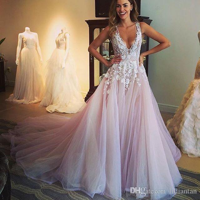 Discount Designer Blush Wedding Dresses Arabic Dubai Tulle Wedding .