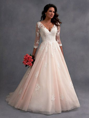 Alfred Angelo Style 2578 in Blush/Ivory | Wedding dresses blush .
