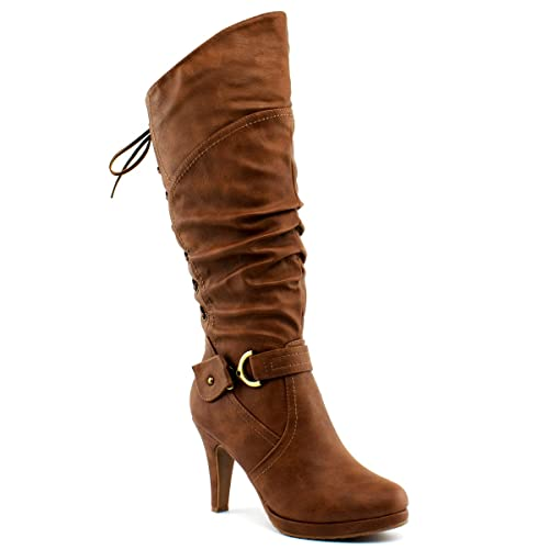 Brown Boots with Heel: Amazon.c