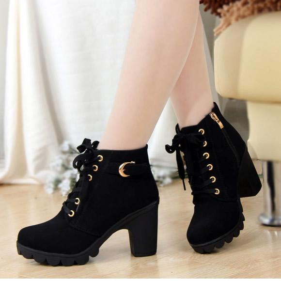 Harajuku fashion heels boots SE10828 – SANREN