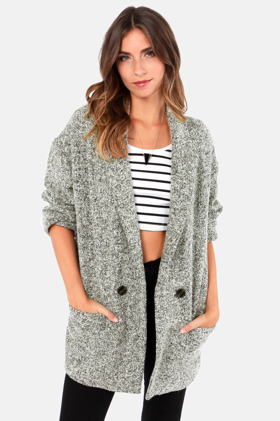 Cute Grey Coat - Boyfriend Jacket - Warm Coat - $78.