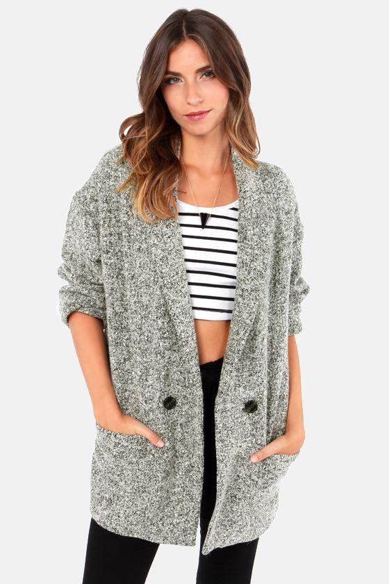 Cute Grey Coat - Boyfriend Jacket - Warm Coat - $78.
