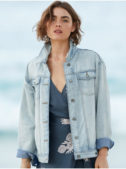 Midnight Drive Denim Boyfriend Jacket ERJJK03279 | Ro