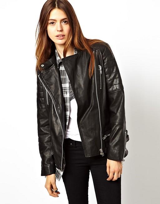 ASOS Leather Boyfriend Biker Jacket | AS