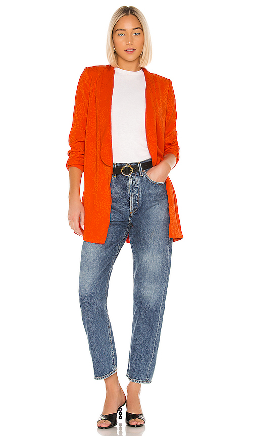 House of Harlow 1960 X REVOLVE Chloe Boyfriend Jacket in Orange .