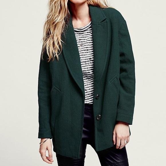 Free People Jackets & Coats | Slouchy Boyfriend Jacket | Poshma