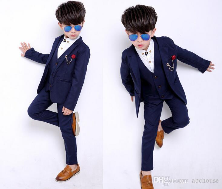 2020 Childrens Suit Sets Fashion Kids Wedding Full Dress Boys .