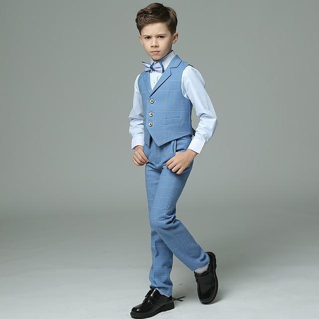 Kids suit waistcoat suit set boys suits formal double breasted .