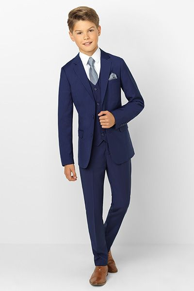 Boys navy suit. Monaco by Paisley of Lond