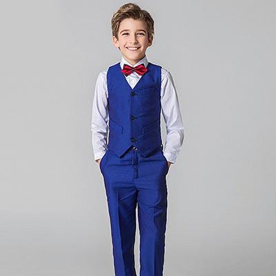 Boy suits British big children flower dress performance service .