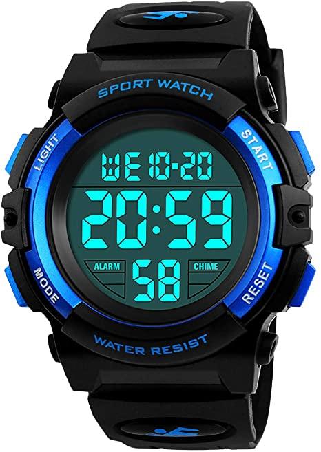 Amazon.com: Kids Digital Watch, Boys Sports Waterproof Led Watches .
