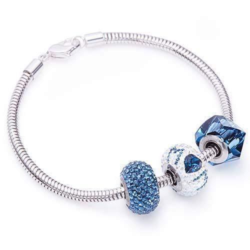 Best Mum Charm Bracelet with Swarovski® Charms - Monta