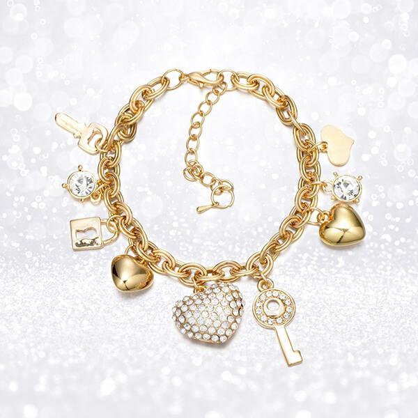 Love Locked Gold Charm Bracelet - Pandoras Box I